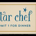 Star Chef Dinner ticket