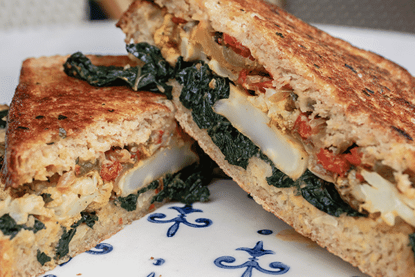 Roast Cauliflower sandwich
